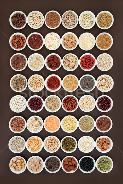 Large Dried High Fiber Health Food Collection Stock photo © marilyna