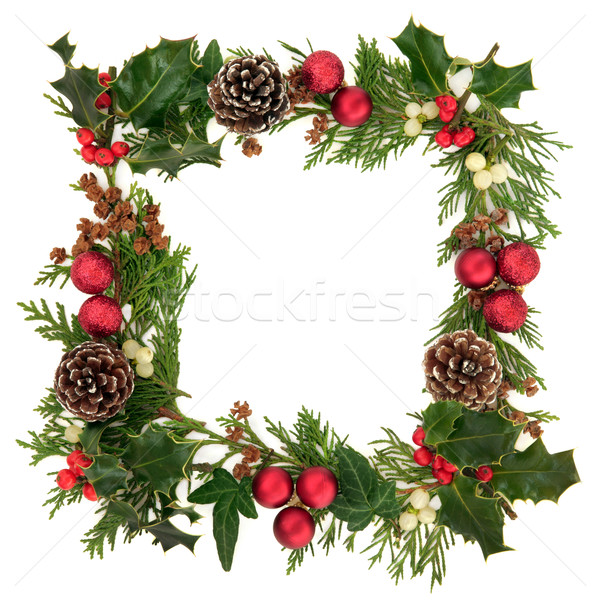 Christmas Decorative Border Stock photo © marilyna