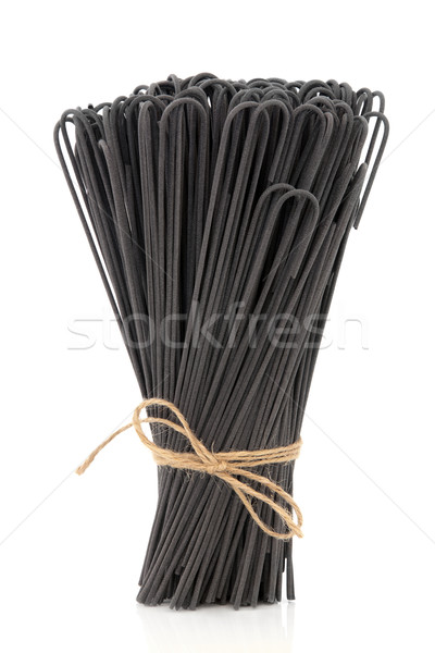 Cuttlefish Ink Spaghetti Stock photo © marilyna