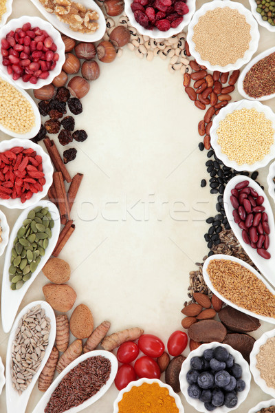 Super Food Border Stock photo © marilyna