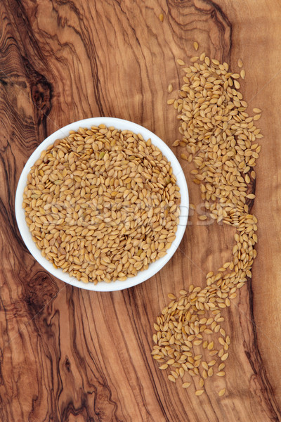 Golden Flax Seed Stock photo © marilyna