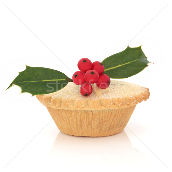 Mince Pie with Holly Stock photo © marilyna