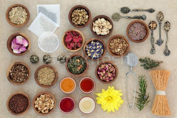 Zdjęcia stock: Herb · dobre · zdrowia · herbaty · torby