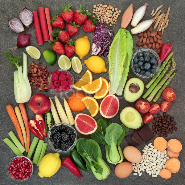 Healthy Diet Food Selection Stock photo © marilyna