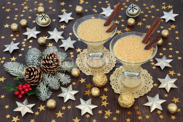 Christmas Eggnog Drink Stock photo © marilyna