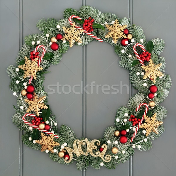 Christmas Noel Wreath Stock photo © marilyna