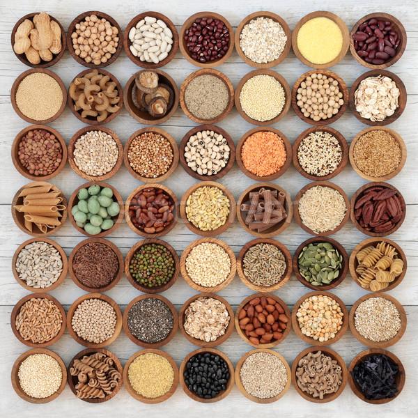 Kurutulmuş süper gıda bakliyat tohumları fındık Stok fotoğraf © marilyna