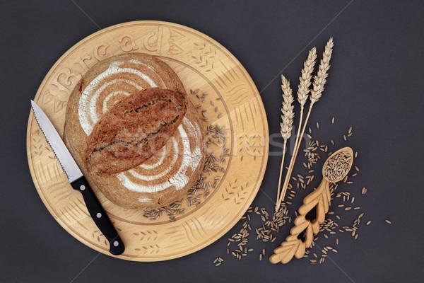 рожь хлеб домашний буханка ножом Сток-фото © marilyna