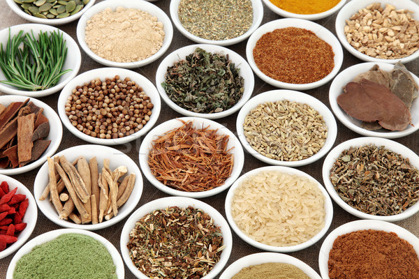 Health Food and Herbs for Men Stock photo © marilyna