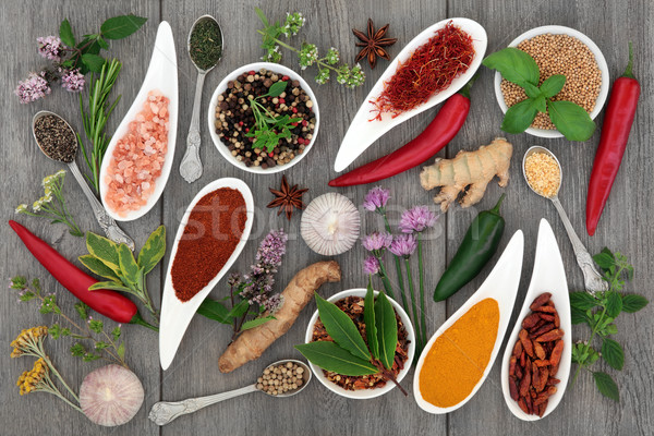 Food Seasoning with Herbs and Spices Stock photo © marilyna