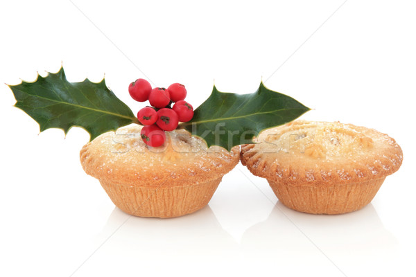 Mince Pies and Holly Stock photo © marilyna