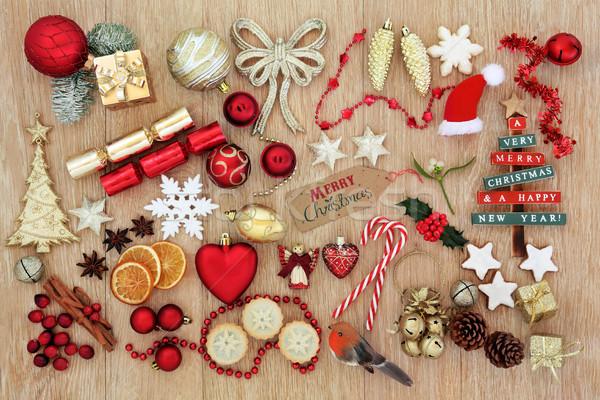 Stok fotoğraf: Semboller · Noel · ağaç · süslemeleri · turta · zencefilli · çörek
