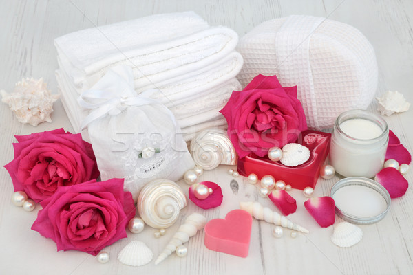 Rose Skincare Beauty Treatment Stock photo © marilyna