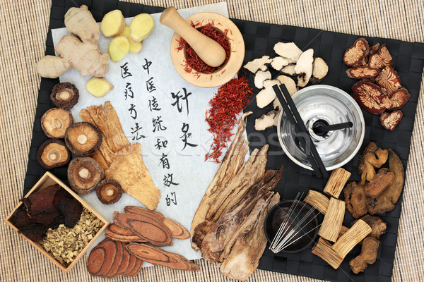 Acupuncture Therapy with Chinese Herbs Stock photo © marilyna