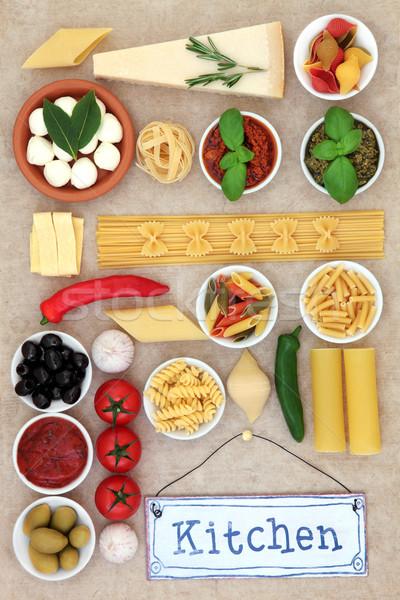 Kulinarny żywności składniki zdrowych morze Śródziemne diety Zdjęcia stock © marilyna