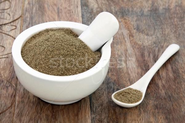 Gyógynövény használt természetes alternatív gyógymód régi fa súly Stock fotó © marilyna