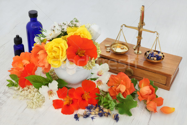 Natural Flower and Herbal Therapy Stock photo © marilyna