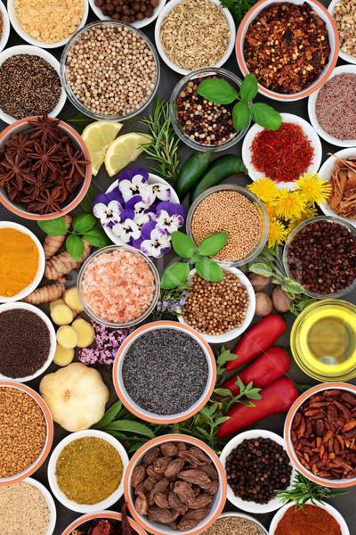 Gyógynövény fűszer ehető virág tálak bő Stock fotó © marilyna