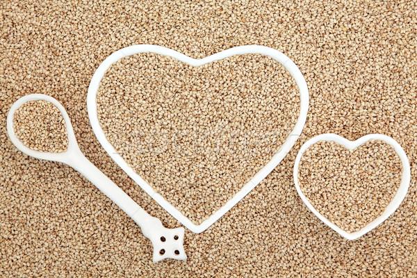 Salute alimentare cuore porcellana Foto d'archivio © marilyna