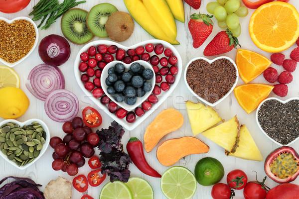 Dieta comida paleo saúde fruto legumes Foto stock © marilyna
