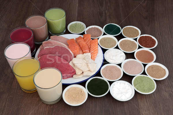 Food and Drinks for Body Builders Stock photo © marilyna