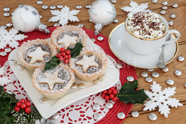 Stock photo: Mince Pies and Hot Chocolate