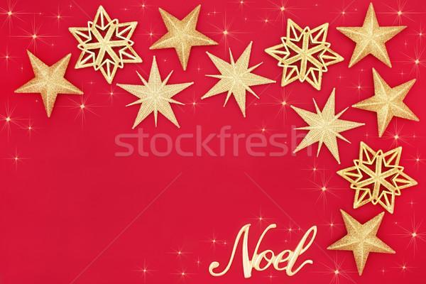 Noel altın önemsiz şey soyut parıltı star Stok fotoğraf © marilyna