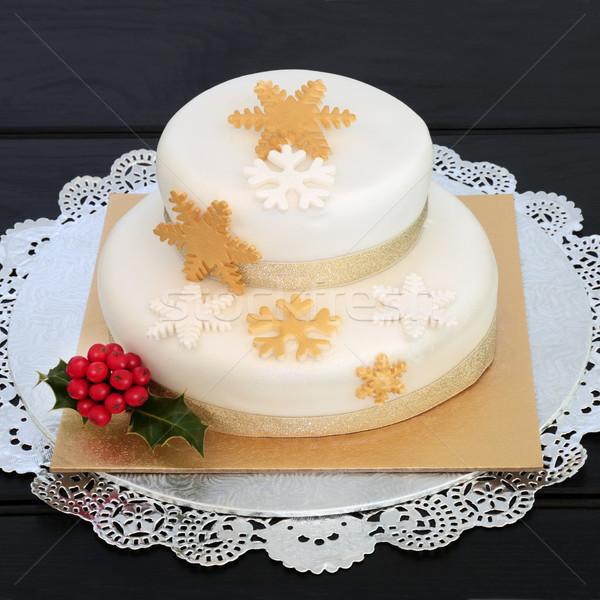 Stock photo: Luxury Christmas Cake