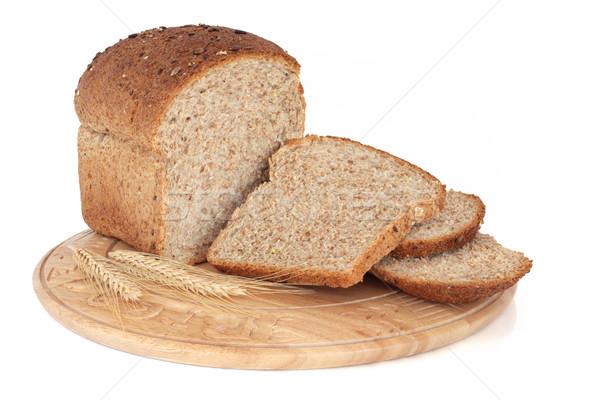 Tutto grano pane pagnotta rustico legno Foto d'archivio © marilyna