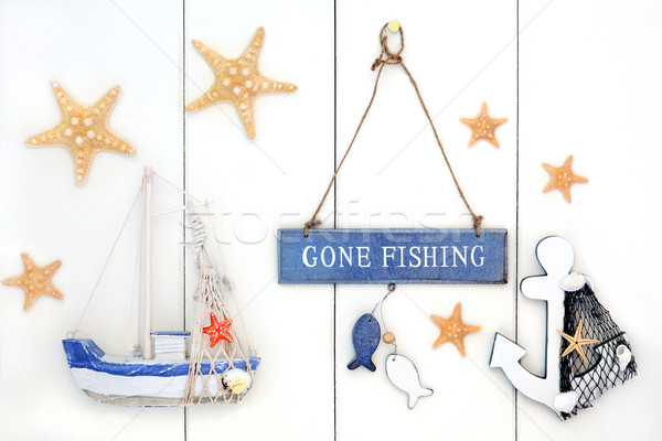 Gone Fishing Decorative Abstract Stock photo © marilyna