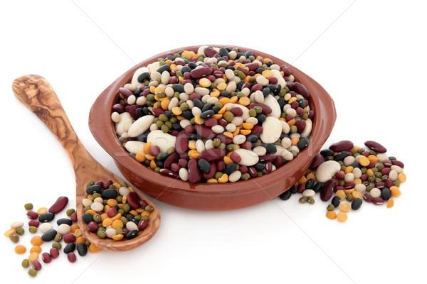 Sopa mistura secas misto tigela oliva Foto stock © marilyna