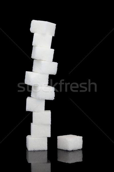 Salud riesgo blanco azúcar cubo Foto stock © marilyna