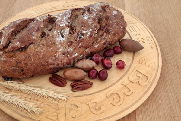 Pecan and Cranberry Bread Stock photo © marilyna