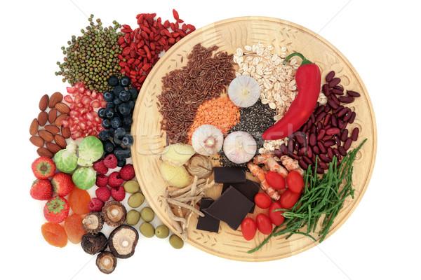 Poder alimentos salud resumen frutas fondo Foto stock © marilyna