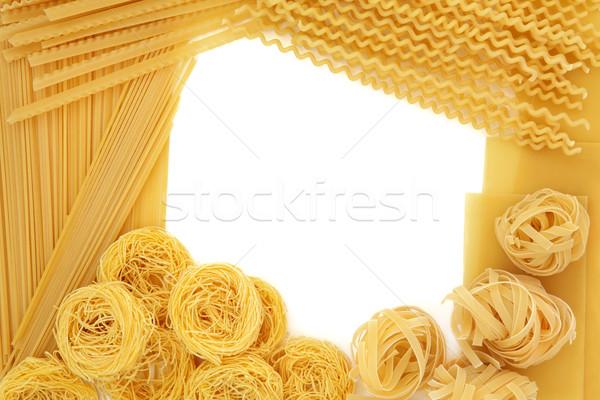 Spaghetti Pasta Border Stock photo © marilyna