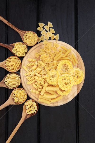 Stock photo: Pasta on Wood