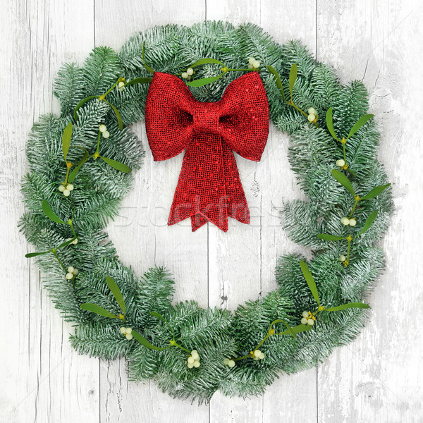 Christmas Wreath Decoration Stock photo © marilyna