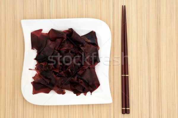 Zeewier gezondheid voedsel porselein vierkante Stockfoto © marilyna