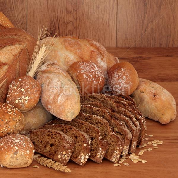Saludable pan frescos pan rodar colección Foto stock © marilyna
