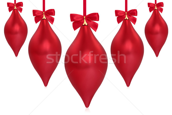 Christmas Droplet Decorations Stock photo © marilyna