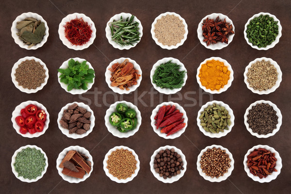 Herb and Spice Collection Stock photo © marilyna