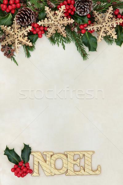 Noel Abstract Border  Stock photo © marilyna