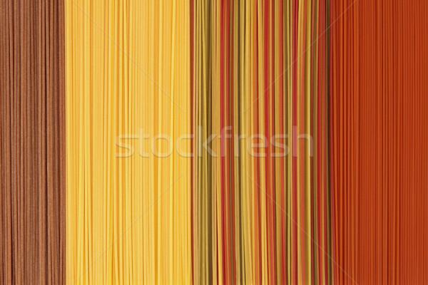 Coloured Pasta Spaghetti Background Stock photo © marilyna