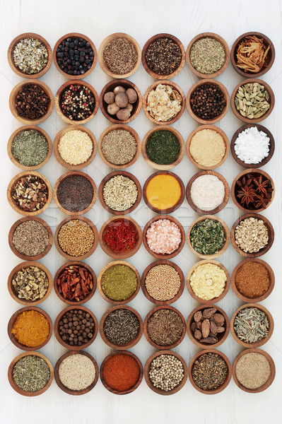 Dried Herb and Spice Collection Stock photo © marilyna