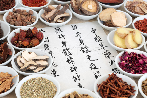 Traditional Chinese Herbal Medicine Stock photo © marilyna