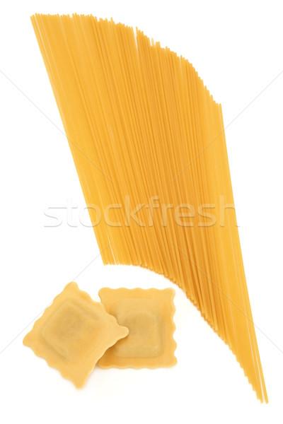 Ravioli spagetti tészta fehér Stock fotó © marilyna