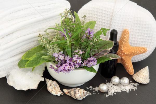 ストックフォト: ハーブ · 温泉療法 · アロマセラピー · スパ · バス