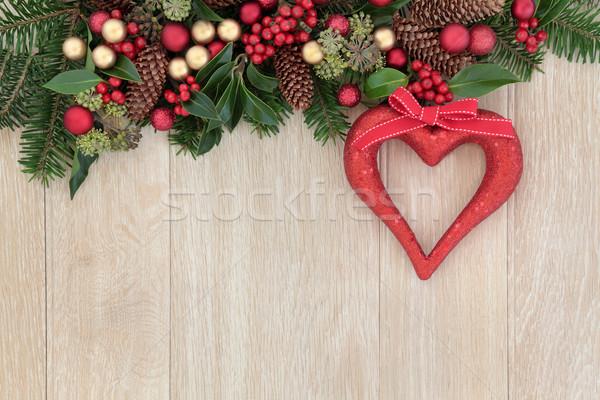 Christmas Heart Decoration Stock photo © marilyna