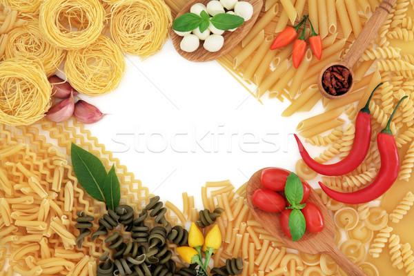 Stok fotoğraf: İtalyan · gıda · malzemeler · İtalyan · makarna · gıda · soyut