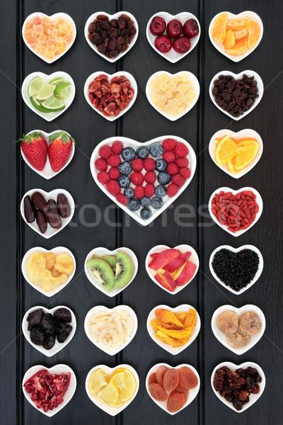 Gezonde vruchten groot gemengd hart Stockfoto © marilyna